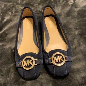 NWOT! Michael Kors Navy Suede Leather Flats